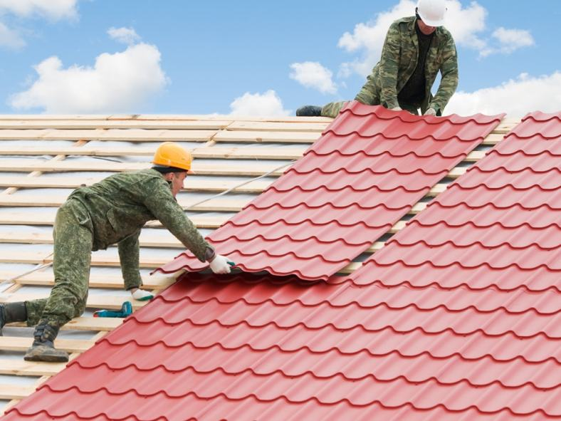 Roofing project by roofing companies