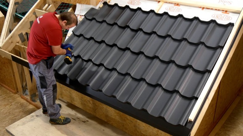 The installation metal roof panels itself is performed quickly